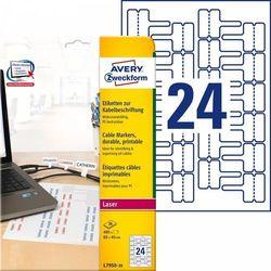 Etykiety do oznaczania kabli Avery Zweckform A4 20ark/op. 60x40mm białe