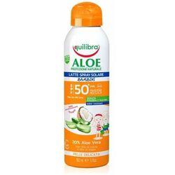Equilibra Pielęgnacja ciała Aloesowe mleczko do opalania dla dzieci w sprayu SPF 50+ UVB/UVA 150.0 ml