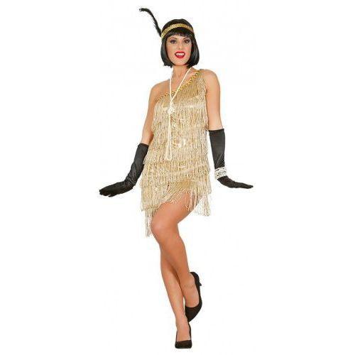 Przebrania i stroje damskie, Kostium dla kobiety Złoty Charleston, lata 20, 30 HIGH QUALITY