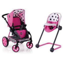 Hauck zestaw - wózek, krzesełko do jadalni i fotelik samochodowy, Set Icoo, różowy - BEZPŁATNY ODBIÓR: WROCŁAW!