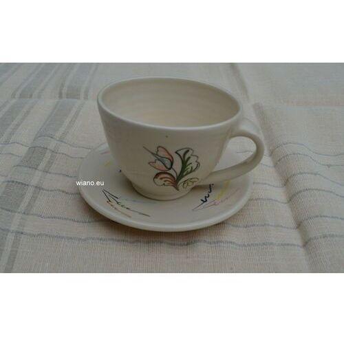 Filiżanki, Garncarstwo - Ceramika bolimowska - filiżanka do kawy ze spodkiem