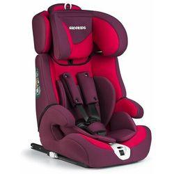 Fotelik samochodowy, isofix, zebo, 9-36 kg, kolor czerwony
