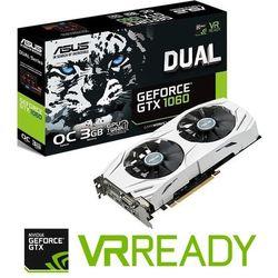 Karta graficzna Asus GeForce GTX 1060 3GB GDDR5 (192 Bit) DVI, 2xHDMI, 2xDP, BOX - 90YV09X3-M0NA00 (DUAL-GTX1060-O3G) Darmowy odbiór w 19 miastach!