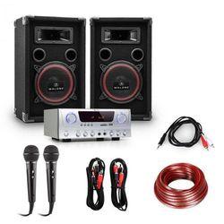 """Electronic-Star PA """"Easy"""" zestaw DJ wzmacniacz kolumny mikrofon 1000W"""