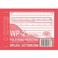 Druki akcydensowe, Pol.przelewu|wpł.gotówkowa WP-2 Michalczyk&Prokop 449-5 - A6 (oryginał+kopia)