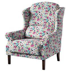 Dekoria Fotel Unique, kolorowe kwiaty z przewagą niebieskiego, 85×107cm, Monet