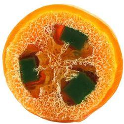 Mydło Glicerynowe z gąbką Loofah - Pomarańcza - 140g - marki Lavea