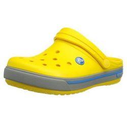Crocs Crocband II.5 Kids Yellow Light Grey Żółto-szare klapki dla dzieci Różne rozmiary