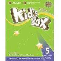Książki do nauki języka, Kid's Box 5 Workbook with Online Resources American English - Nixon Caroline, Tomlinson Michael (opr. miękka)