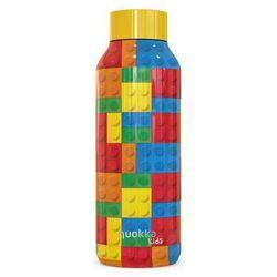 Quokka Solid Kids - Butelka termiczna ze stali nierdzewnej 510 ml (Color Bricks)