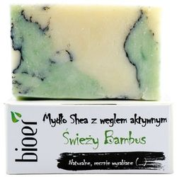 Mydło z masłem Shea - Świeży Bambus - marki Bioer