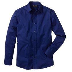 Koszula ze stretchem Slim Fit bonprix kobaltowy