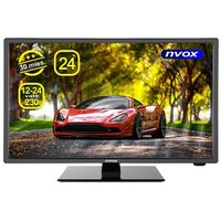 Monitory samochodowe, NVOX 24C510FHB Telewizor LED 24'' z DVB-T MPEG-4/2 USB HDMI VGA 12V 24V 230V