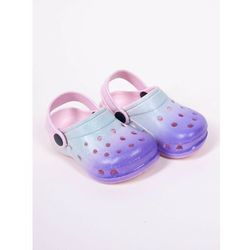 Klapki piankowe kroksy ogrodowe dziewczęce tęczowe niebiesko-fioletowe 34