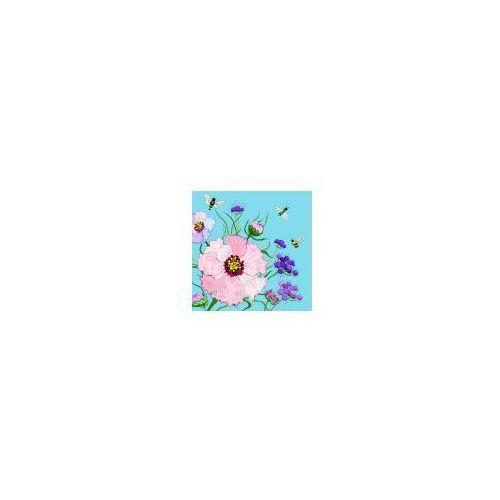 Pozostałe artykuły szkolne, Karnet Swarovski kwadrat CL0610 Kwiaty błękit