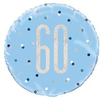 Balony, Balon foliowy niebieski - 60 - 46 cm - 1 szt.