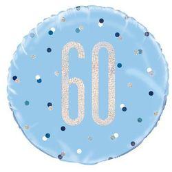 Balon foliowy niebieski - 60 - 46 cm - 1 szt.