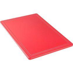 Deska do krojenia HACCP 600x400 mm, czerwona | STALGAST, 341631