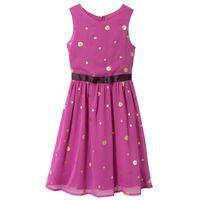 Sukienki dziecięce, Sukienka na uroczyste okazje, z brokatowym połyskiem bonprix fioletowy z nadrukiem