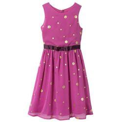 Sukienka na uroczyste okazje, z brokatowym połyskiem bonprix fioletowy z nadrukiem