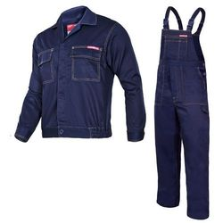 Komplet ubrań roboczych bluza, ogrodniczki L (182/100-104) Granatowe