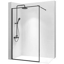 Ścianka prysznicowa 80 cm z czarnym profilem Bler Rea