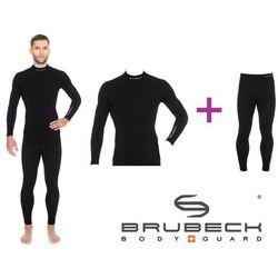 BRUBECK Extreme Wool Men's thermoactive underwear set   Black XXL