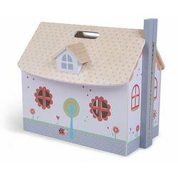 Drewniany otwierany domek dla lalek, mebelki w zestawie darmowa dostawa