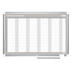 Planer, Tablica suchościeralno-magnetyczna do planowania rocznego LUX, 900x600 mm