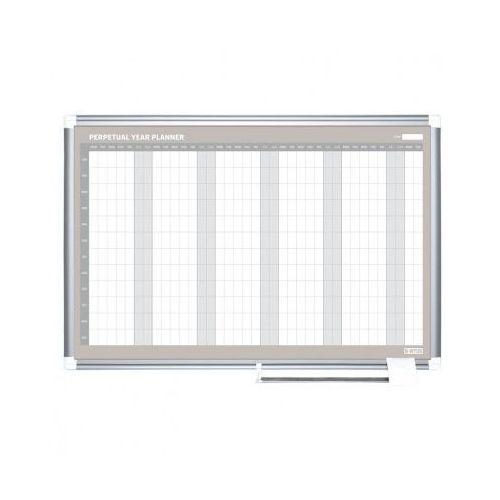Tablice i flipcharty, Planer, Tablica suchościeralno-magnetyczna do planowania rocznego LUX, 900x600 mm