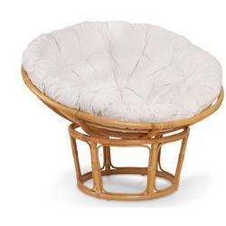 Okrągły fotel rattanowy AKAROA – kolor miodowy