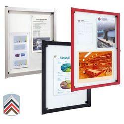 Gablota Media jednodrzwiowa, 4xA4, rama aluminiowa, głębokość 40mm