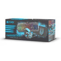 Natec Fury THUNDERSTREAK Zestaw dla graczy 4w1 (klawiatura,mysz,słuchawki,podkła - NFU-0938