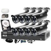 Zestawy monitoringowe, Zestaw do monitoringu: Rejestrator BCS-XVR1601+ 8x BCS-TQE5200IR3 - Dysk 1tB + Akcesoria