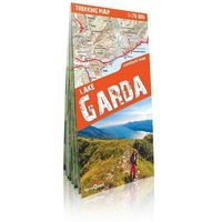 Przewodniki turystyczne, Jezioro Garda (Lake Garda) trekking map laminowana mapa trekkingowa 1:70 000 (opr. miękka)