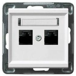Gniazdo komputerowe 2x RJ45, kat. 5e biały GPK-2R/K/m/00 SONATA