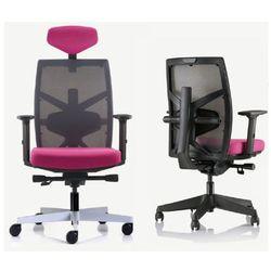Fotel Unique TUNE czarna siatka - 18 KOLORÓW (Tkanina BL) wysuw siedziska, ZŁAP RABAT: KOD100