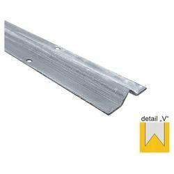Prowadnica spodnia - V - INOX, L6000mm