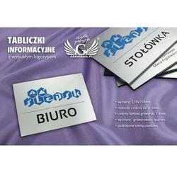 Tabliczki informacyjne dla firmy i biura z wypukłym logotypem - SZ098 - wym. 210x150mm