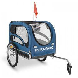 DURAMAXX King Rex Przyczepka rowerowa do przewozu psów 250 l 40k g Rura stalowa czarno-niebieski