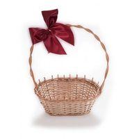 Pozostałe wyposażenie domu, Wiklinowy kosz prezentowy na kwiaty prezenty na prezent z pięknymi kokardami