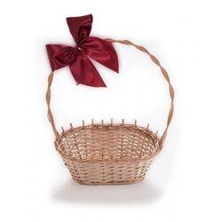Wiklinowy kosz prezentowy na kwiaty prezenty na prezent z pięknymi kokardami