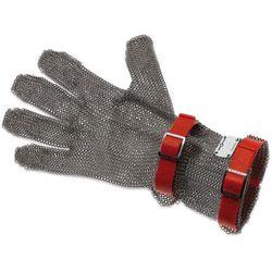 Rękawica metalowa z czerwonymi paskami, średnia, rozmiar M | GIESSER, 9590 08