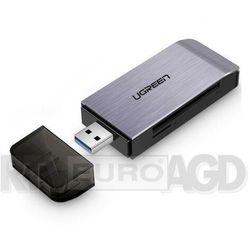 Ugreen Czytnik kart SD / micro SD / CF / MS na USB 3.0 | Szary (50541)