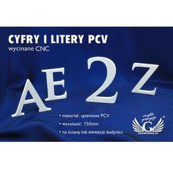 Cyfry i litery na ścianę lub elewację budynku - PCV - wysokość 15cm