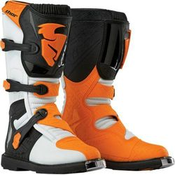 THOR BUTY OFFROAD BLITZ S5 WHITE/ORANGE =$