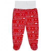 """Półśpiochy, Półspiochy """"Happy Prints"""" - Love Sleep Czerwony"""