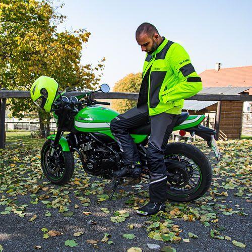 Buty motocyklowe, Skórzane buty motocyklowe W-TEC Hernot W-3015, Czarny-fluo żółty, 43