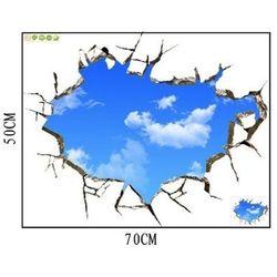 Naklejka na ścianę blue sky 3d 50 x 70