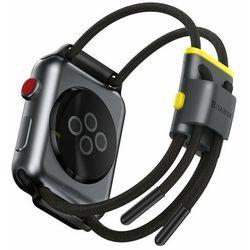 Baseus Let's Go Cord   Opaska regulowana pasek sportowy do Apple Watch 3/4/5 38/40mm - 38/40 mm \ Szary / żółty